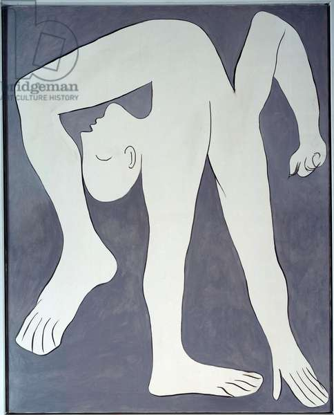 The acrobat. Representation of a contortionist. Painting by Pablo Picasso (1881-1973) 1930 Sun. 1,62x1,3 m Paris, Musee Picasso