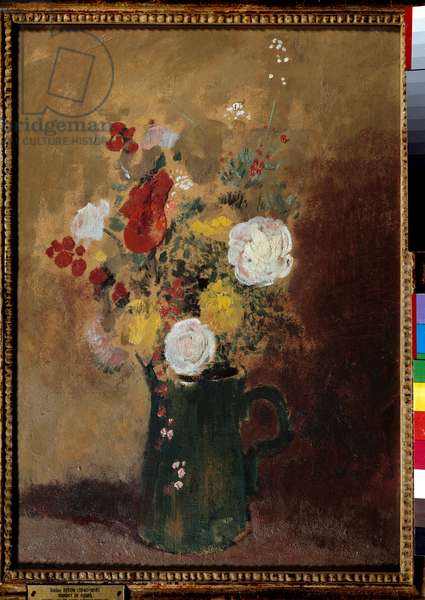 Bouquets of flowers Painting by Odilon Redon (1840-1916) 19th century Bordeaux, Musee des Beaux Arts