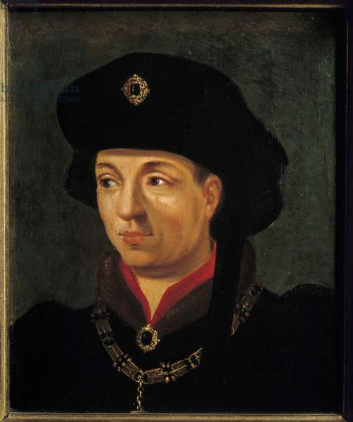 Portrait of Philippe the Good, Duke of Burgundy (1396-1463) Painting of the French School. 16th century Sun. 0,2x0,15 m versailles, museum of the chateau