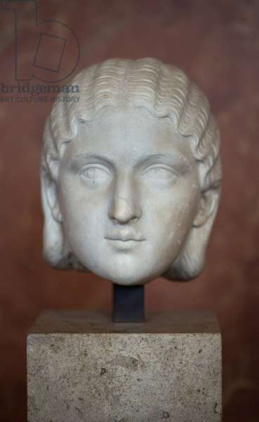 Art Rome Head of the Empress Barbia Orbiana (3rd century), Marble