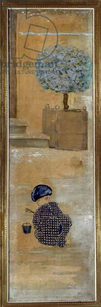 The child in the sand paste or the child in the bucket, 1894 (oil on canvas)