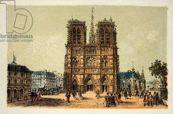 Paris 1874: Notre Dame, Private Collection