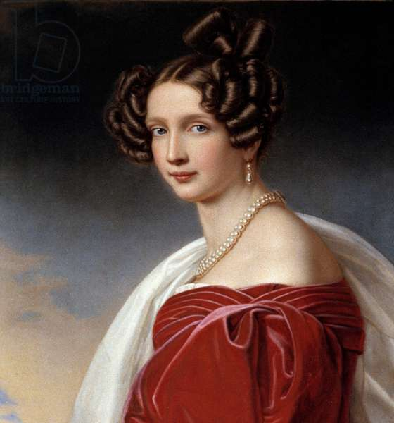 Portrait of Sophie Frederique, Princess of Baviere and Archiduchess of Austria (1805-1872) Painting by Joseph Karl Stieler (1781-1858) 1832 - Munich. Chateau De Nymphenburg - Portrait of Sophie Frederique, Princess of Bavaria and Archduchess of Austria (1805-1872). Painting by Joseph Karl Stieler (1781-1858) 19th century. Castle of Nymphenburg, Munich, Germany