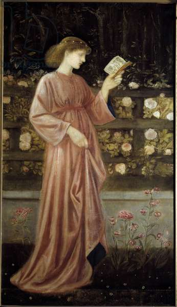 Representation of Princess Sabra, daughter of the King Illustration of the Princess of St. George and the Dragon. Painting by Edward Burne Jones (1833-1898) 1865-1866 Sun. 1x0.6 m Paris, musee d'Orsay