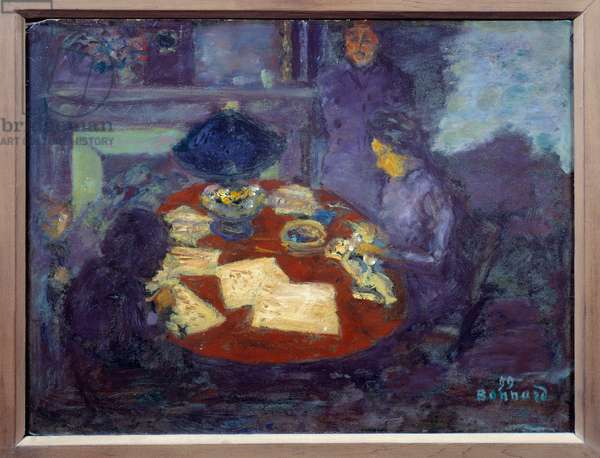 Under the lamp Painting by Pierre Bonnard (1867-1947) 1899 Dim: 0,34x0,44 m Paris, Musee d'Orsay