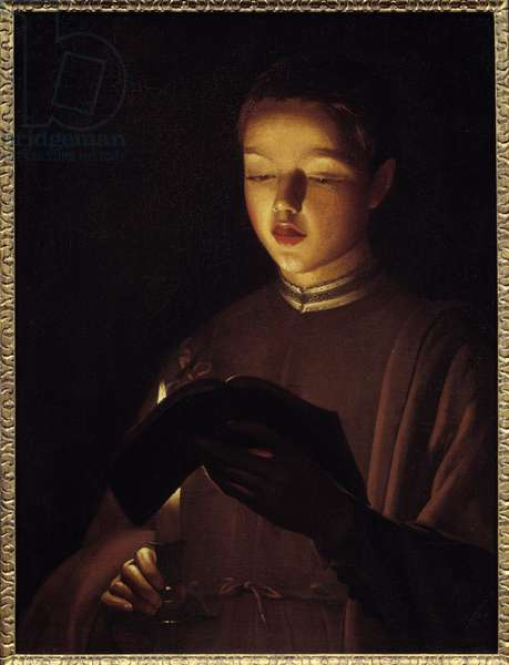 The young singer. Painting by Georges De La Tour (1593-1652), 17th century. Paris, Musee Du Louvre