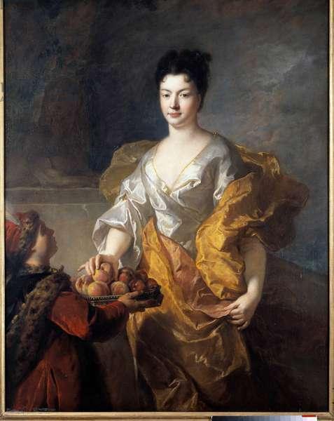 Portrait of the Duchess of The Force. Painting by Francois De Troy (1645 - 1730), 1714. Oil on canvas. Dim: 1,44 x 1,11m. Rouen, Museum of Fine Arts