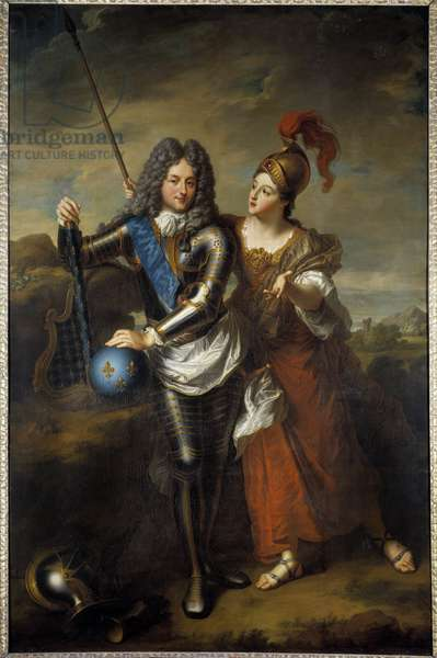 Portrait of the Regent Philip II Duke of Orleans (1674-1723) and Marie Magdeleine of the Vieuville, Countess of Parabere (1693-1750) Painting by Jean Baptiste Santerre (1651-1717) 1716 Sun. 2,48x1,6 m Versailles, musee of the chateau