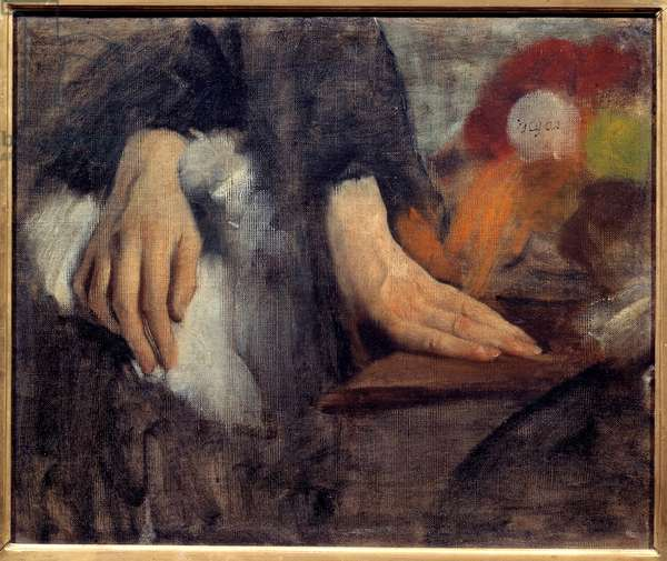Hand study for the Bellelli family Painting by Edgar Degas (1834-1917) 1859 Sun. 0,38x0,46 m Paris, musee d'Orsay
