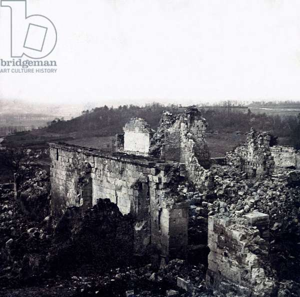 Stereoscopic glass plate on the First World War (1st, Iere, 14-18 or 1914-1918) (The First World War; WWI): Houdemont Houdemont, Private Collection