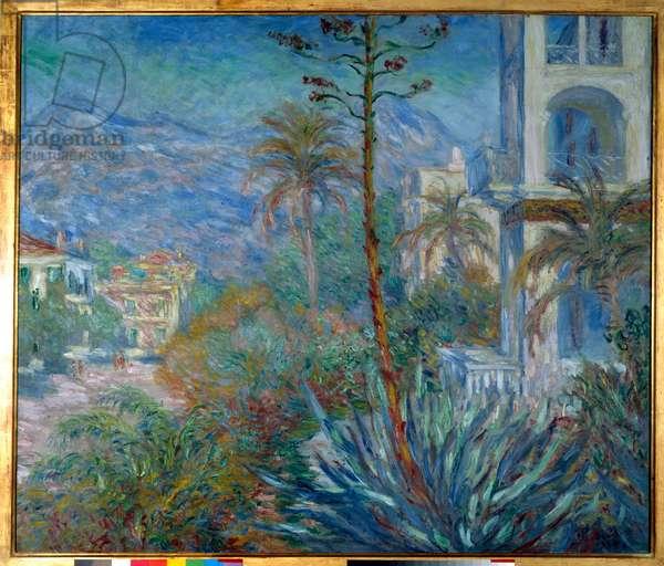 The villas in Bordighera in 1884 Painting by Claude Monet (1840-1926) 1884 Sun. 1,15 x 1,30 m Paris, musee d'Orsay - Villas at Bordighera, 1884. Painting by Claude Monet (1840-1926), 1884. 1.15 x 1.30 m. Orsay Museum, Paris