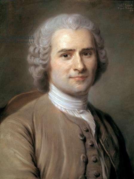 Portrait of Jean-Jacques (Jean Jacques) Rousseau (1712-1778), Swiss philosopher. Pastel by Charles Escot (1834-1902) 1874 Sun. 0,46x0,38 m  - Portrait of Jean-Jacques (Jean Jacques) Rousseau (1712-1778), Swiss philosopher. Pastel by Charles Escot (1834-1902), 1874. 0.46 x 0.38 m.