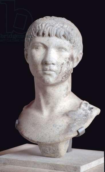 Art Rome Bust of Ptolemma of Mauritania (10 BC - 40 AD) marble