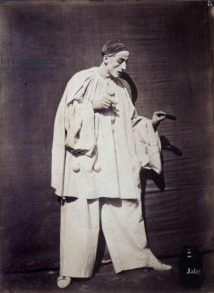 "Mime: Charles Deburau (1829-1873) in ""Pierrot at the pot of medicine"""""