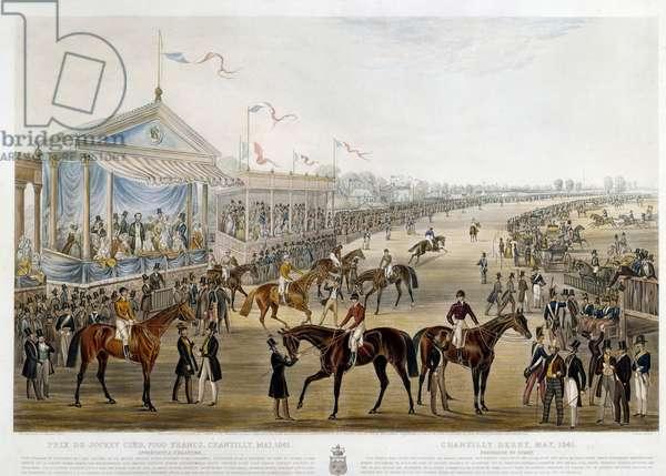 Prix du jockey club a Chantilly in 1841 Print by John Frederick Herring (1795-1865), 1841 Collection privee