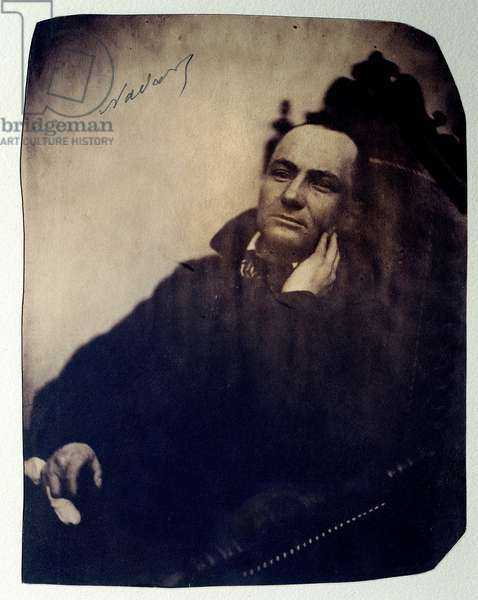 Portrait of the French poet Charles Baudelaire (1821-1867). 1855