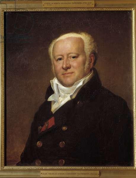 Portrait of Baron Jean Nicolas Corvisart-Desmaretz (Corvisart Desmaretz, 1755 - 1821) doctor of Napoleon I. Painting by Francois Gerard (1770-1837), 1808.Oil on canvas. Dim: 0.64 x 0.53m.