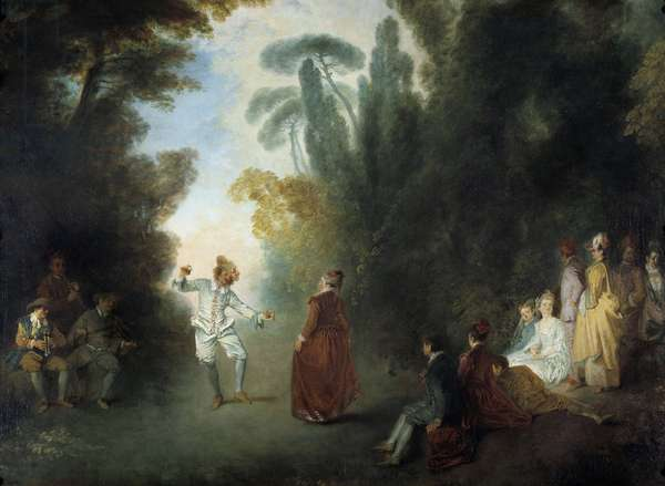 The Champetre Ball Painting by Jean Antoine Watteau (1684-1721), Private Collection
