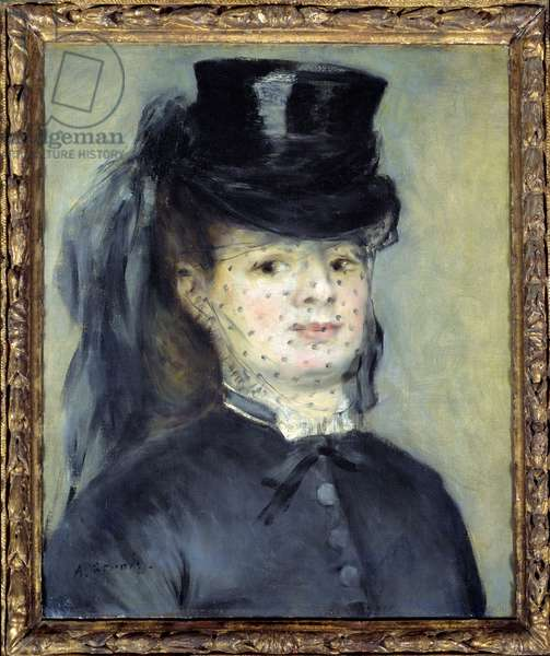 Portrait of Madame Darras, nee Henriette Oudiette, wife of Captain Paul Darras (Study for the Amazon of 1873), 1872 (oil on canvas).