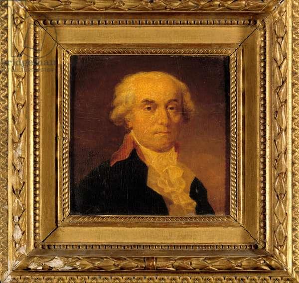 Portrait of Jerome Petion de Villeneuve (1759-1793) President of the Convention and Mayor of Paris Painting by Jean Urbain Guerin (1760-1836) 1792. Dim. 0,15x0,15 m.