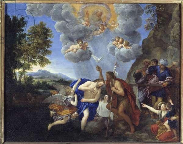 The baptism of Christ - Painting by Francesco Albani dit l'Albane (1578-1660), 17th century - Oil on canvas - Sun: 0,77 x 0,98m - Lyon, Musee Des Beaux Arts