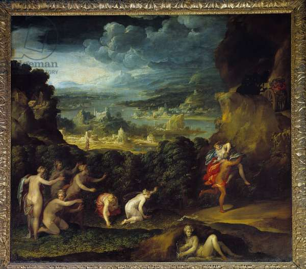 The removal of Proserpine. Painting by Nicolo Dell Abate (1509-1571) Ec. Ital., 16th century. Oil on canvas. Dim: 1,96x2,15m.