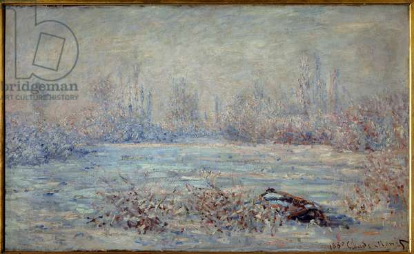 Frost near Vetheuil in 1880 Painting by Claude Monet (1840-1926) 1880 Dim. 0,61 x 1 m. Paris, Musee d'Orsay