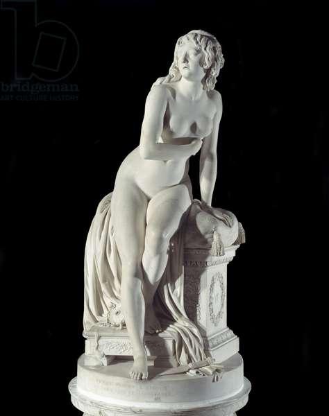 Abandoned Psyche Sculpture by Augustin Pajou (1730-1809) 1791 Paris, Musee du Louvre