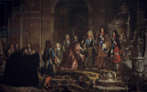 Reparation made to King Louis XIV by the Doge of Genes in the Galerie des Glaces in Versailles, May 15, 1685, c.1710 (oil on canvas)