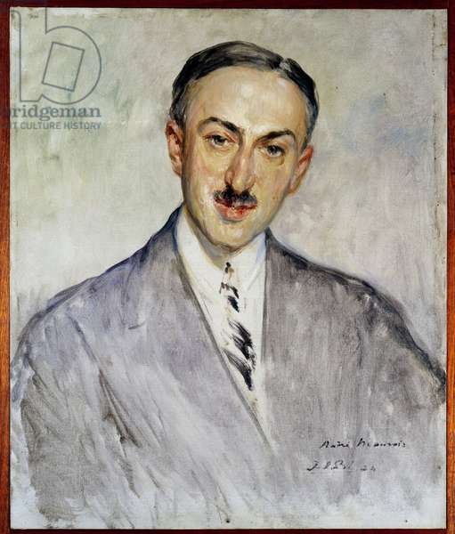 Study for the portrait of Emile Herzog dit Andre Maurois (1885-1967), French writer Painting by Jacques Emile (Jacques-Emile) Blanche (1861-1942) 1924 Sun. 0,5x0,41 m Rouen, musee des Beaux Arts