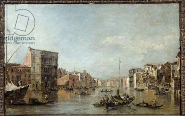 View of the Grand Canal in Venice Painting by Francesco Guardi (1712-1793) 18th century Toulouse, Musee des Augustins