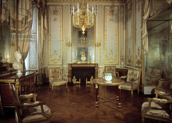 View of the Interior Cabinet of Queen Marie Antoinette (1755-1793) (the dore cabinet). Versailles, castle museum