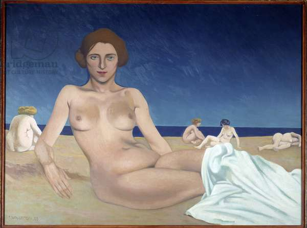 Sunbathing on the beach Painting by Felix Vallotton (1865-1925) 1923 Rouen, Musee des Beaux Arts
