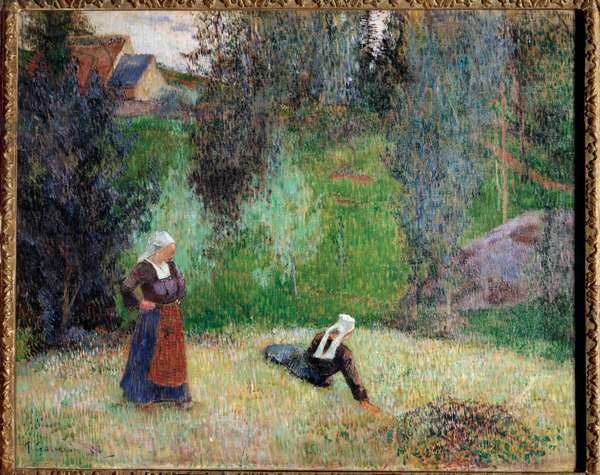 First Flowers of Brittany Painting by Paul Gauguin (1848-1903), 1888 Zurich. Rau Foundation for the Third World