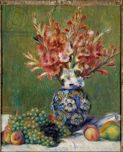 Flowers and Fruits Painting by Pierre Auguste Renoir (1841-1919) 1889 Private Collection