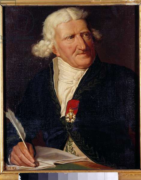 Portrait of Antoine Augustin Parmentier (1737-1813), French military pharmacist and agronomist Painting by Hippolyte-Isodore DupuisColson (1820-1862) 1857. Dim. 0,65x0,54 m.
