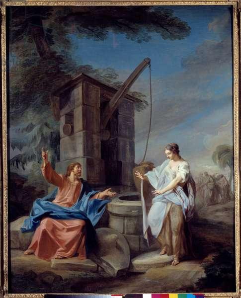 Christ and the Samaritan Painting by Gabriel de Saint Aubin (1724-1780) 1752 Sun. 1,35x1,06 m Rouen, Musee des Beaux Arts