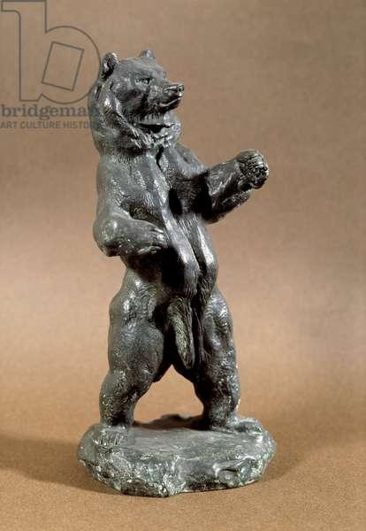 Standing Bear Bronze sculpture by Antoine Louis Barye (1795-1875) 19th century Sun. 0,24 m Paris, Musee du Louvre