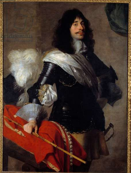 Portrait of the groin son of Pierre Corneille in uniform as captain of the horse-legers (Chevau legers, circa 1667 Painting by Jean de Reyn (1610-1678) 17th century Versailles, musee Lambinet