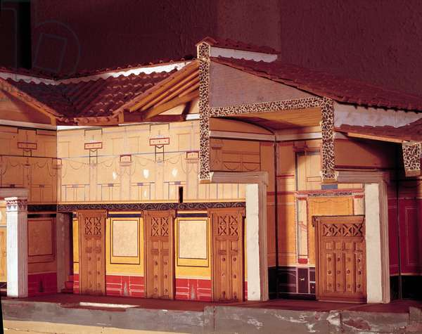Miniature of the House of the Tragic Poet in Pompei.