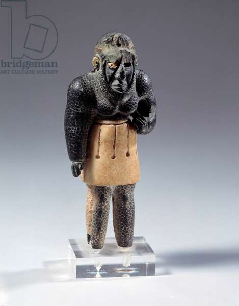Oriental art: mythological geny of the mountain. From eastern Iran. 2200 BC. Paris, Louvre Museum