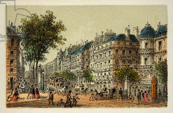 Paris 1874: Boulevard des Italians, Private collection