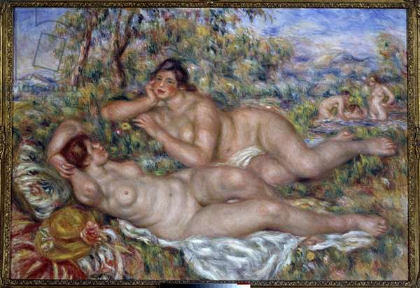 The bathers. Painting by Pierre Auguste Renoir (1841-1919), 1918. Oil on canvas. Dim: 1,10 x 1,60m. Paris, Musee d'Orsay