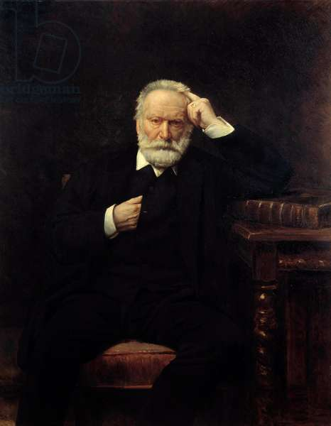 Portrait of the French writer Victor Hugo (1802-1885) Painting by Leon Joseph Bonnat (1833-1922) 1879 Sun. 1,38x1,1 m