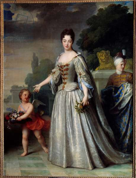 Portrait of Marie Adelaide of Savoie, Duchess of Burgundy dolphine of France (1685-1712). Painting by Jean Baptiste Santerre (1651-1717), 1709. Oil on canvas. Dim: 2.75 x 1.84m.