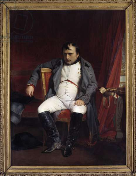 Portrait of Napoleon I at Fontainebleau on 03/31/1814 (1840 oil on canvas)