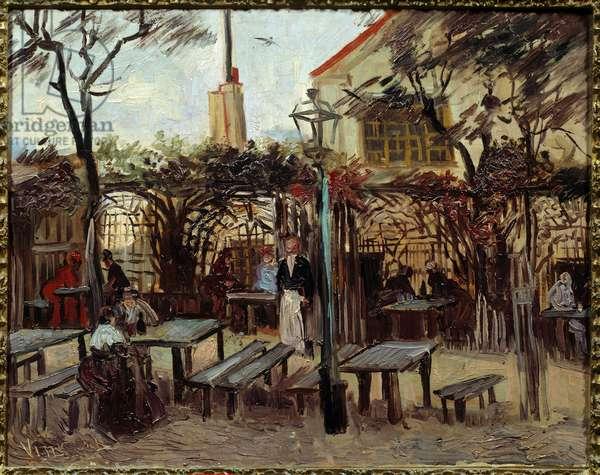 """Guinguette in Montmartre:"""" Le Billard En Bois"""""""" Became"""""""" La Bonne Franquette"""""""""""". Painting by Vincent Van Gogh (1853-1890) (ec.holl.) 1886 Sun. 0,49x0,64 m Paris, musee d'Orsay"""