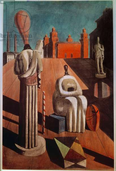 The disturbing Muses (The inquetanti muse) 1916 9oil on canvas)