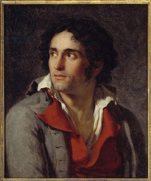 Presume portrait of the geolier of the painter Jacques Louis David stayed in prison after Robespierre's fall in 1794. Painting attributed to Jacques Louis David (1748-1825) 1795 approx. Sun. 0,54x0,46 m Rouen, musee des Beaux Arts