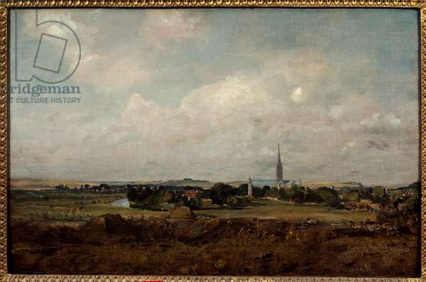 View of Salisbury in England Painting by John Constable (1776-1837) (ec.engl.) Sun. 0,35x0,51 m Paris, Musee du Louvre.